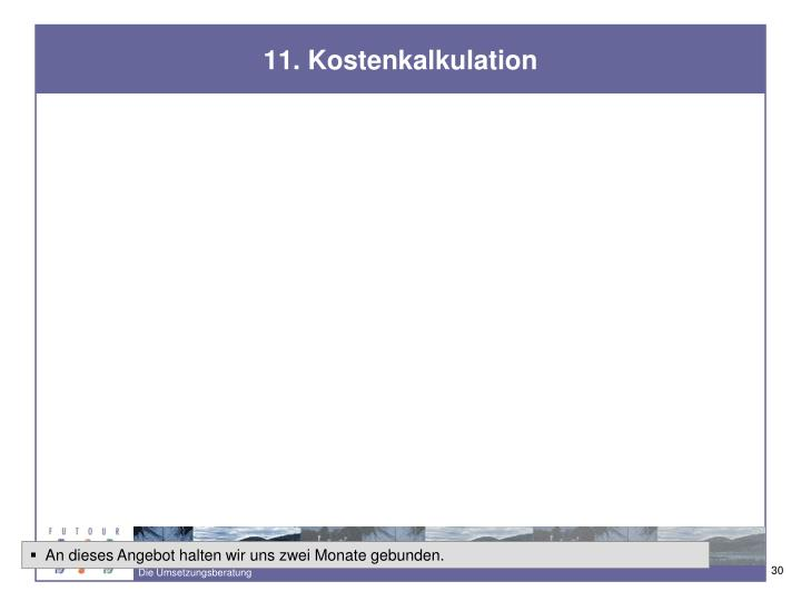 11. Kostenkalkulation