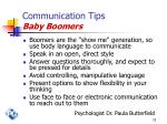 communication tips baby boomers