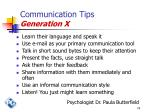 communication tips generation x