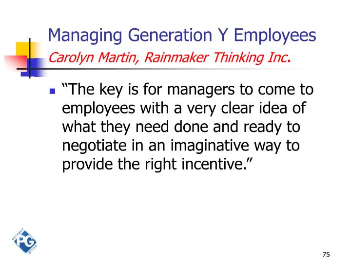 Managing Generation Y Employees