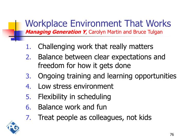 Workplace Environment That Works