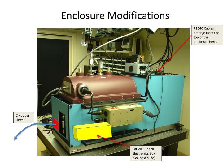 Enclosure Modifications