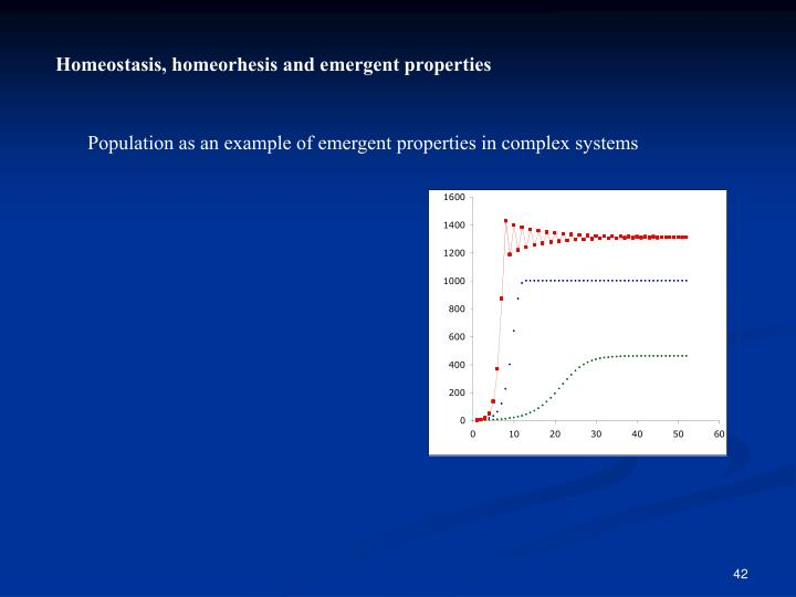 Homeostasis, homeorhesis and emergent properties