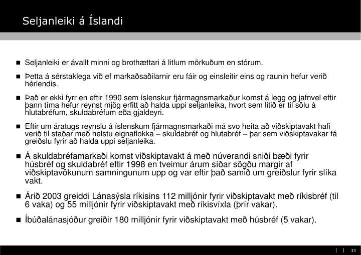 Seljanleiki á Íslandi
