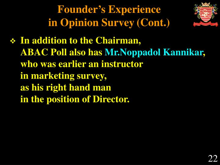 Founder's Experience