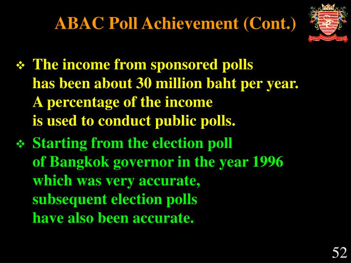 ABAC Poll Achievement