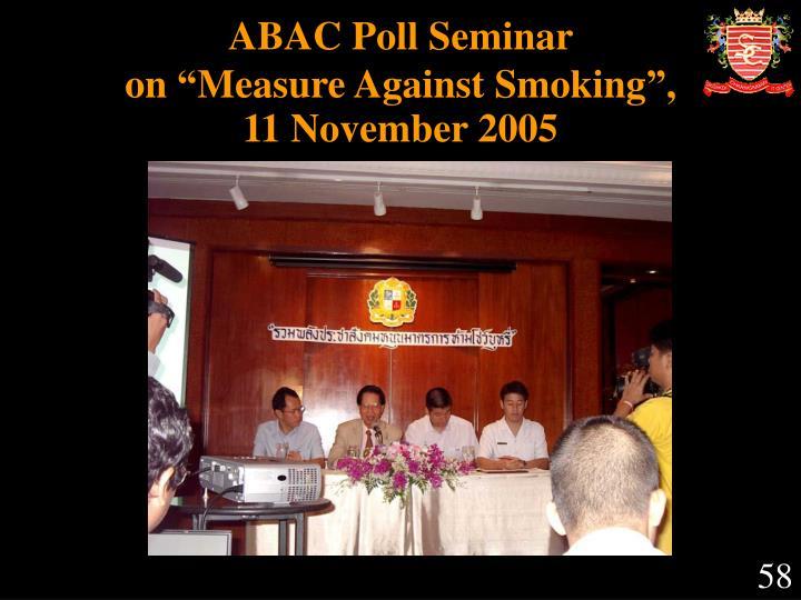 ABAC Poll Seminar