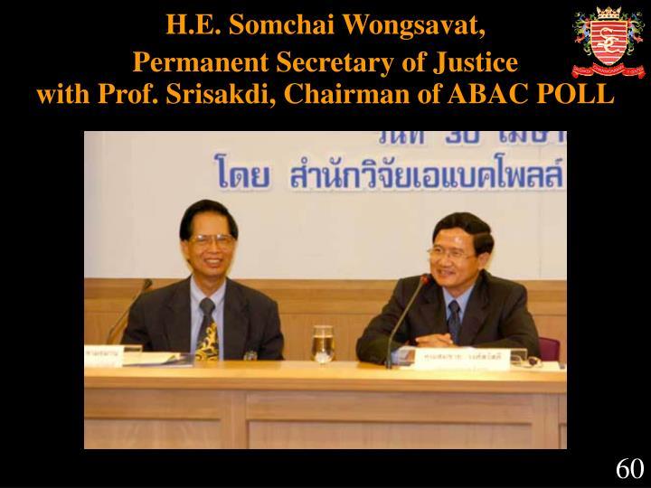 H.E. Somchai Wongsavat,