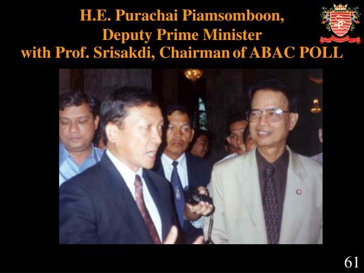 H.E. Purachai Piamsomboon,