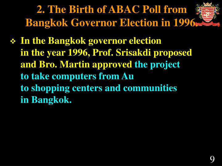 2. The Birth of ABAC Poll from