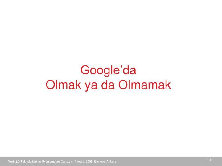 Google'da