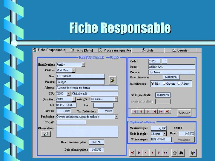 Fiche Responsable