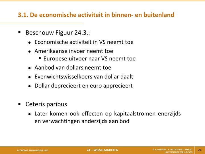 3.1. De economische activiteit in binnen- en buitenland