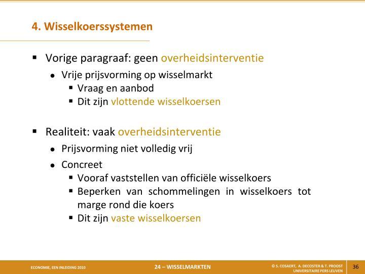 4. Wisselkoerssystemen