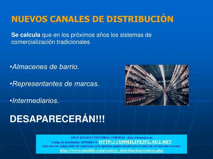 NUEVOS CANALES DE DISTRIBUCIÓN