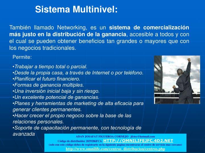 Sistema Multinivel:
