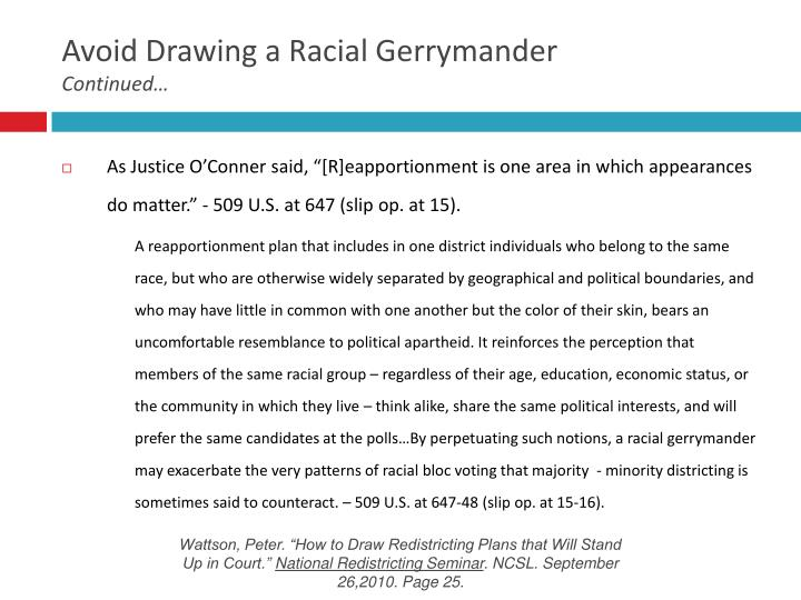 Avoid Drawing a Racial Gerrymander