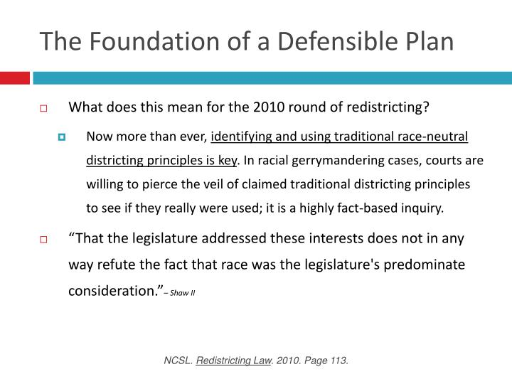 The Foundation of a Defensible Plan