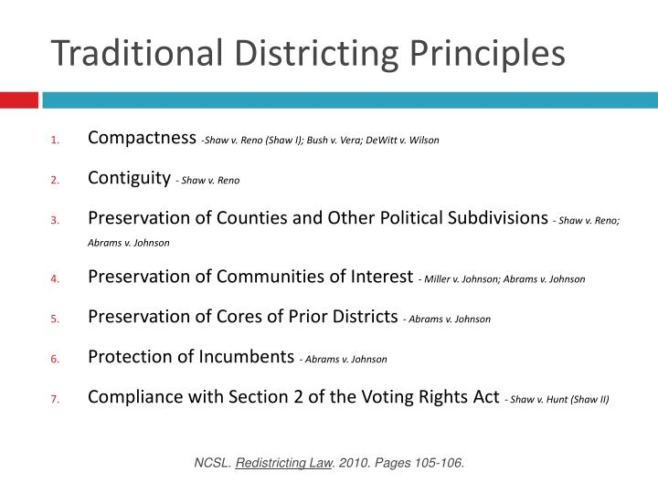 Traditional districting principles