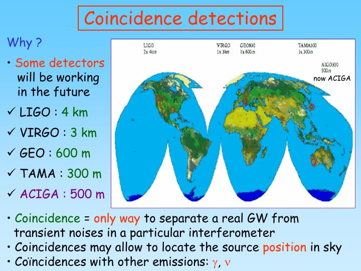 Coincidence detections