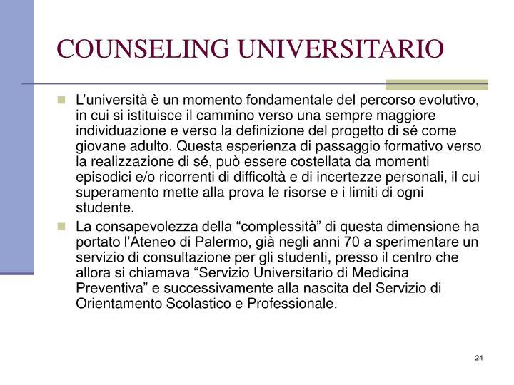 COUNSELING UNIVERSITARIO