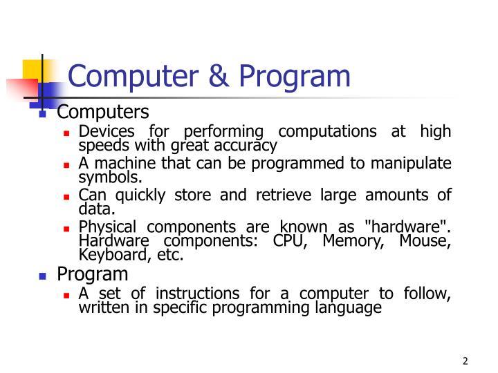 Computer & Program