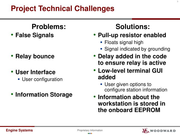 Project Technical Challenges