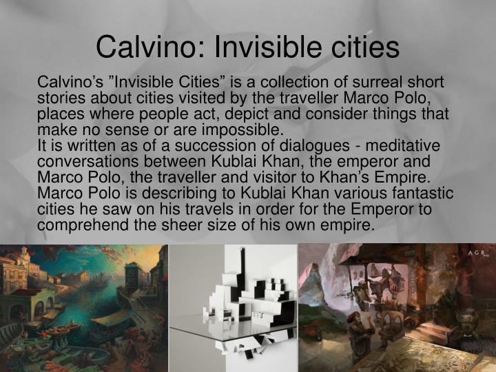 Calvino: Invisible cities