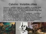 calvino invisible cities