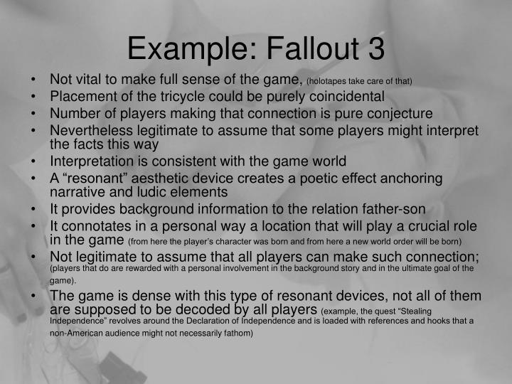 Example: Fallout 3