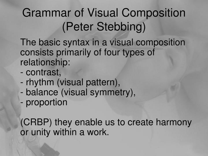 Grammar of Visual Composition