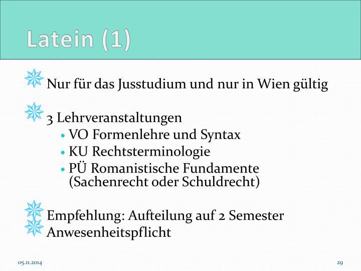 Latein (1)
