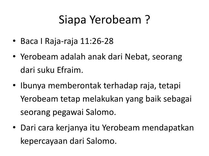 Siapa Yerobeam ?