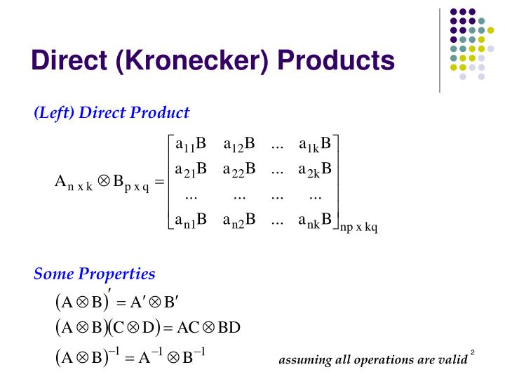 Direct kronecker products