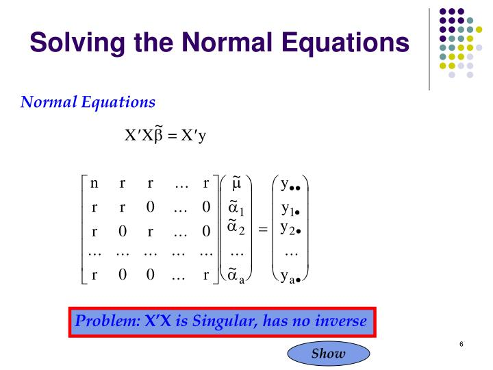 Solving the Normal Equations