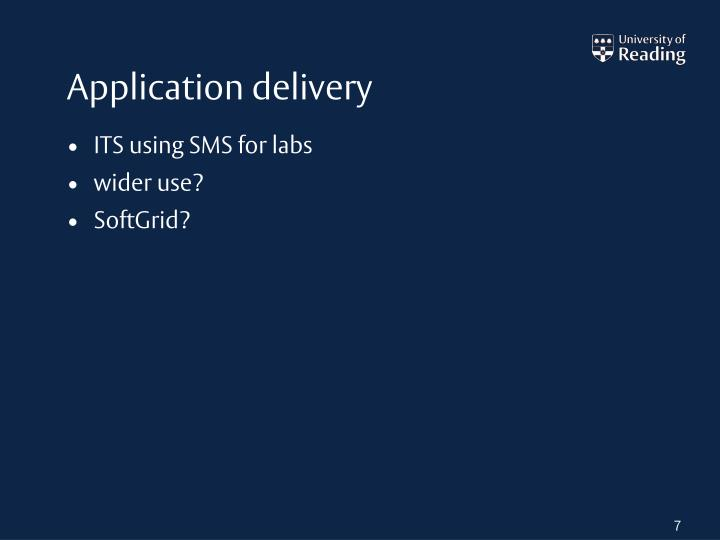 Application delivery
