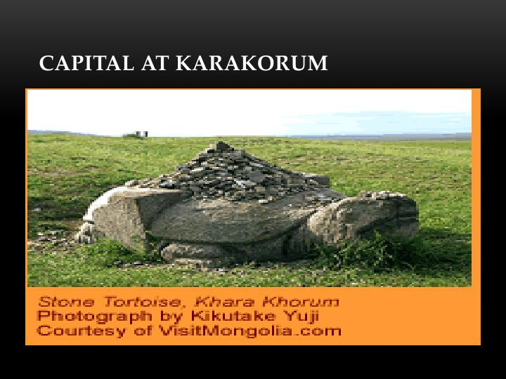 Capital at Karakorum