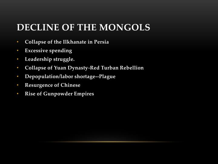 Decline of the Mongols