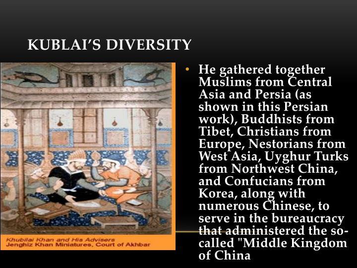 Kublai's diversity