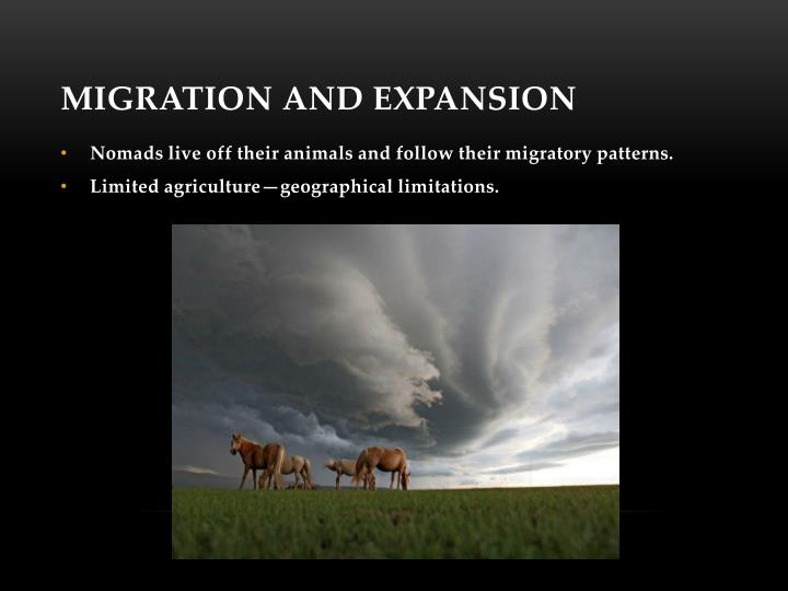 Migration and Expansion