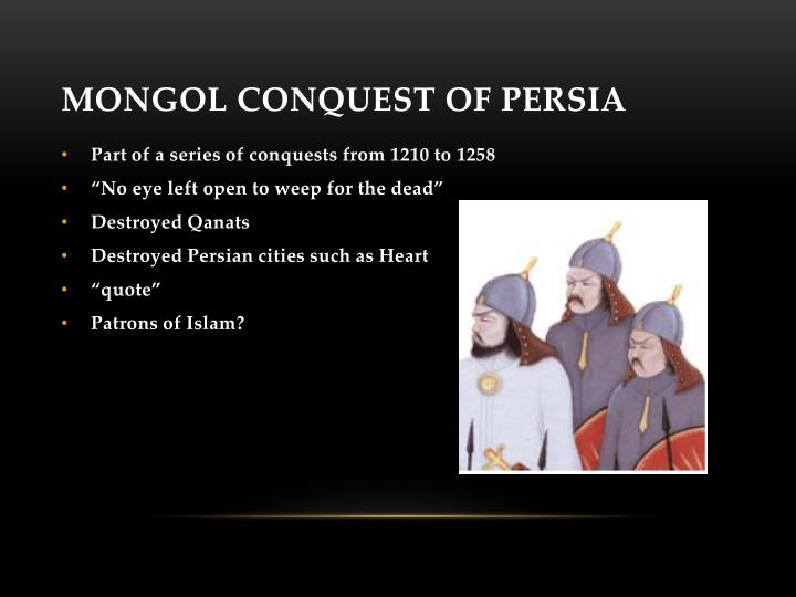Mongol Conquest of Persia
