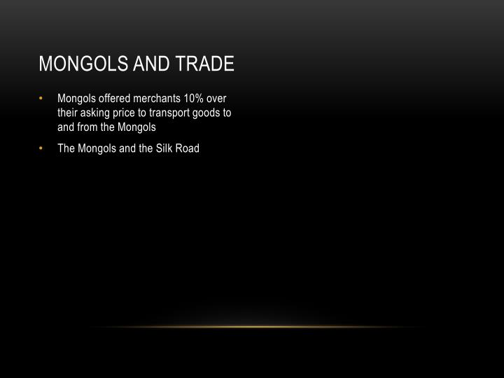 Mongols and trade