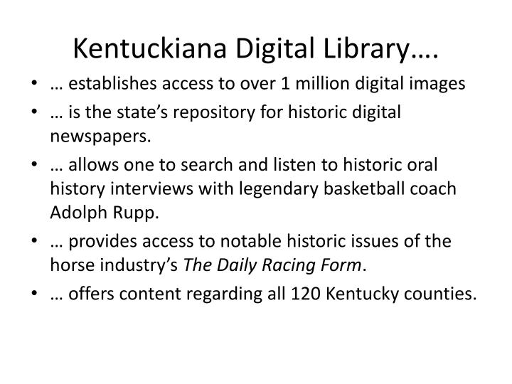 Kentuckiana digital library