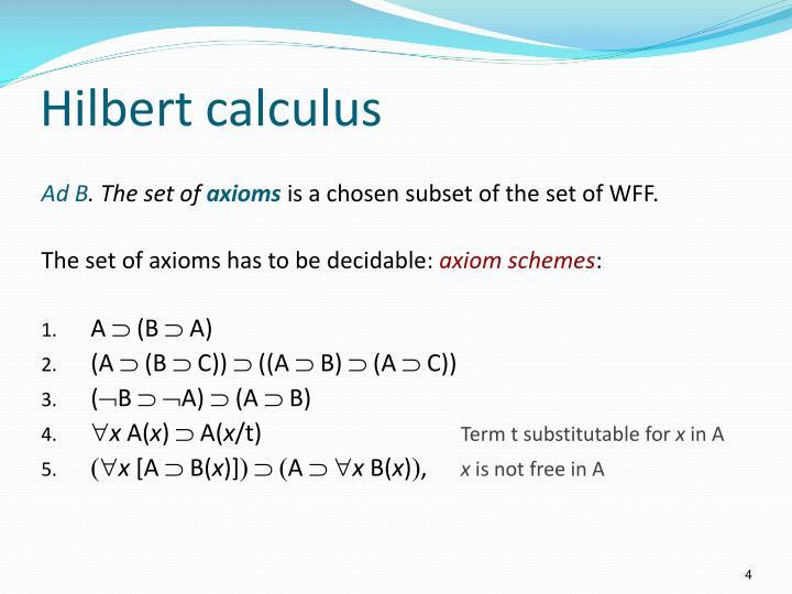 Hilbert calculus