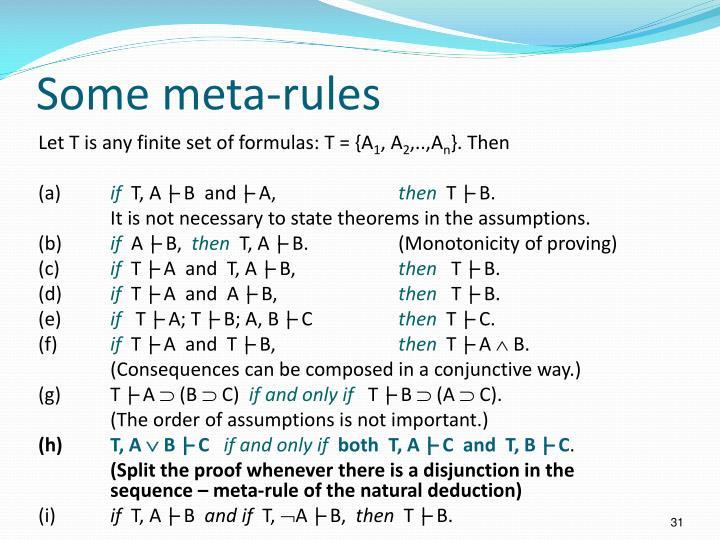 Some meta-rules