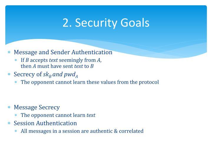 2. Security Goals