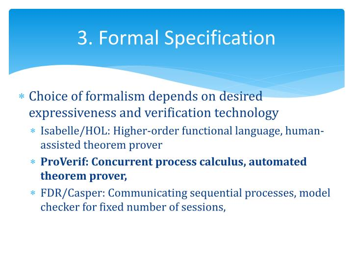 3. Formal Specification