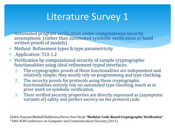 Literature Survey 1