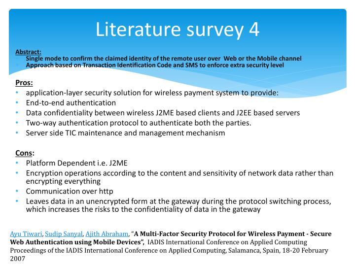 Literature survey 4