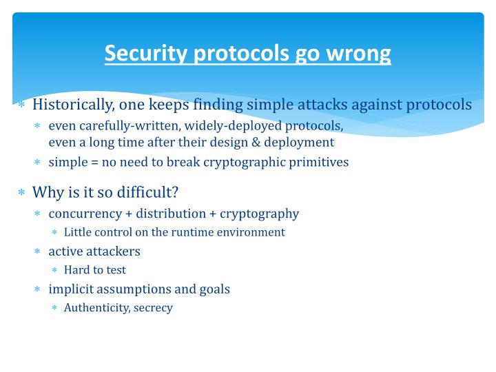 Security protocols go wrong